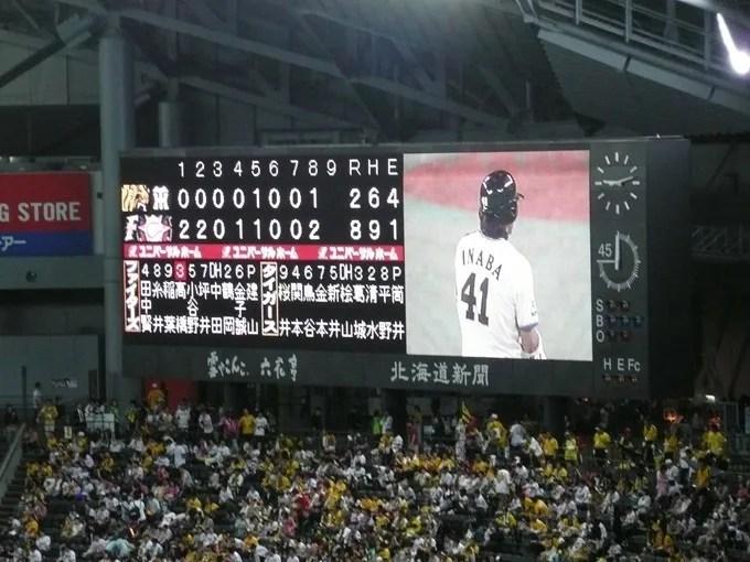 セ・パ交流戦 阪神タイガースVS日本ハムファイターズ