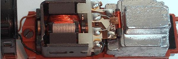 Motor im Tender der BR 01.1 von Fleischmann