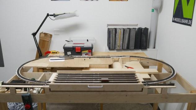 Bau Fiddle Yard Teil 8: Das Fiddle Yard findet seinen Platz