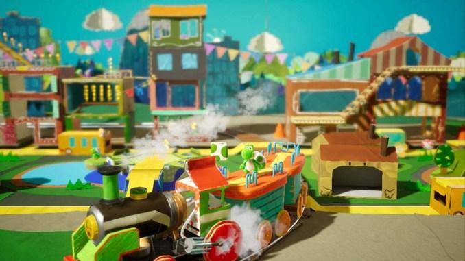 """Das Bild zeigt das von Good-Feel entwickelte """"Yoshi's Crafted World""""."""