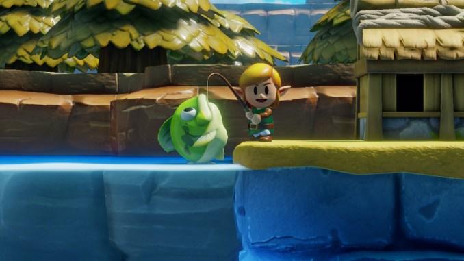 Link's Awakening lässt euch Fische angeln, die größer sind als Link selbst