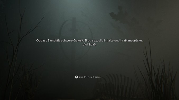 Das Bild verklärt in Textform, dass Outlast 2 Extreme Inhalte bietet.