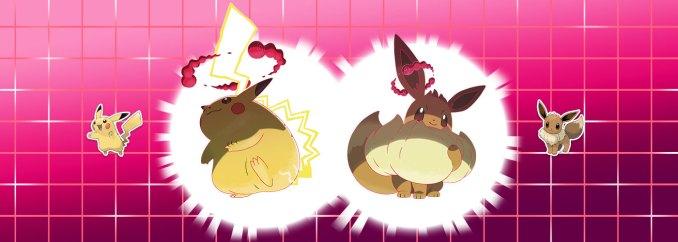 Die Gigadynamax-Formen von Pikachu und Evoli