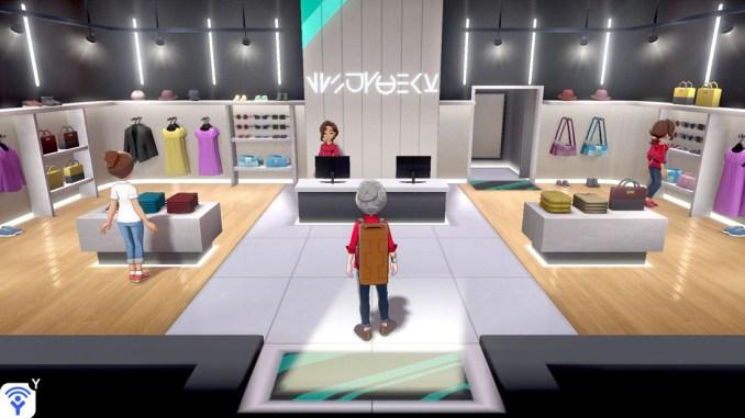 Die Boutiquen in Pokémon laden zum Bummeln ein.