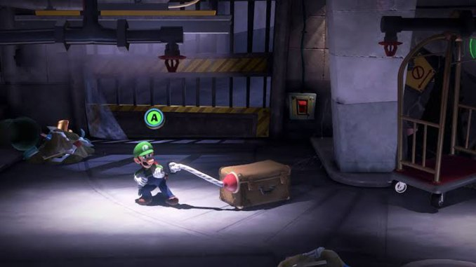 Das Foto zeigt eine neue Aktion mit einem Pümpel, den Luigi erst verschießt und dann ansaugt.
