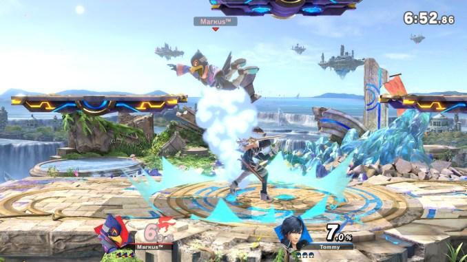 Das Foto zeigt, wie Chrom Falco nach oben schleudert und dieser entsetzt schaut.