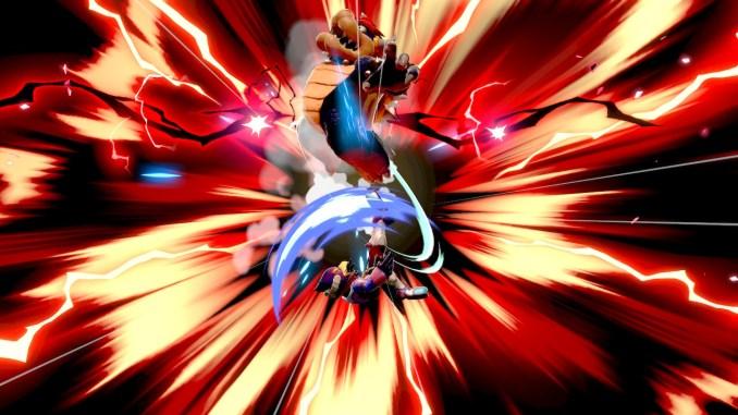 Das Foto zeigt den finalen Kick von Falco gegen Boswer und wie dieser nach oben in die Deadzone fliegt.