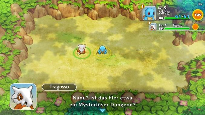 Das Foto zeigt Schiggy und Tragosso im ersten Dungeon.
