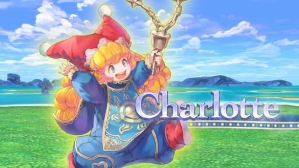 Das Foto zeigt die lachende Charlotte mit einer Waffe.