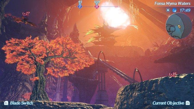 Das Foto zeigt ein Gebiet aus Xenoblade Chronicles 2.