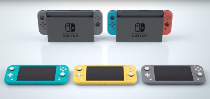 Das Bild zeigt die verschiedenen Switch-Modelle.