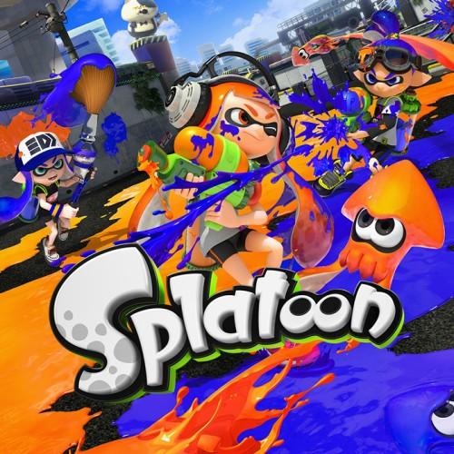 Das Foto zeigt das Cover von Splatoon auf der Wii U.