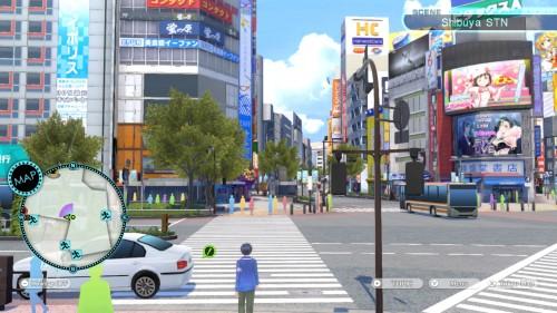 In Tokyo Mirage Sessions wurde die Namen gebende Stadt Tokyo original getreu abgebildet. Ein Häuserblock in der Innenstadt ist auf dem Bild zu sehen.