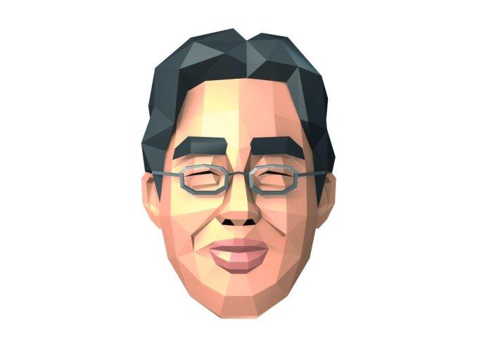 Das Bild zeigt eine virtuelle Abbildung von Dr. Kawashima aus dem DS-Klassiker Dr. Kawashima's Gehirn-Jogging – Wie fit ist Ihr Gehirn?