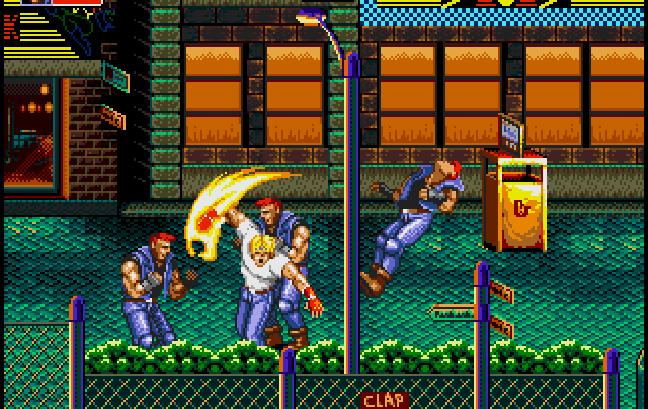 Das Foto zeigt einen Ausschnitt aus Streets of Rage 2.