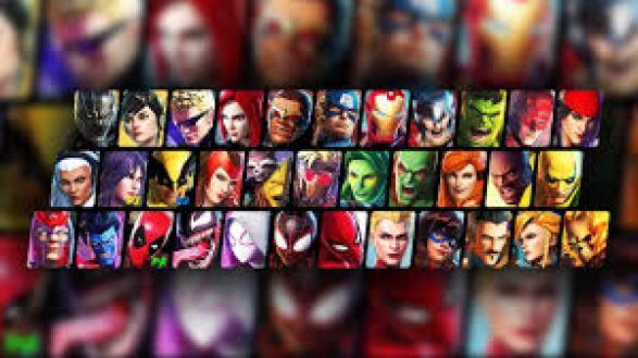 Das Bild zeit einen Überblick aller Charaktere aus Marvel Ultimate Alliance 3.