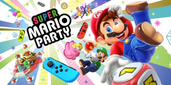 Das Bild zeigt ein Werbebild zu Super Mario Party auf der Nintendo Switch.