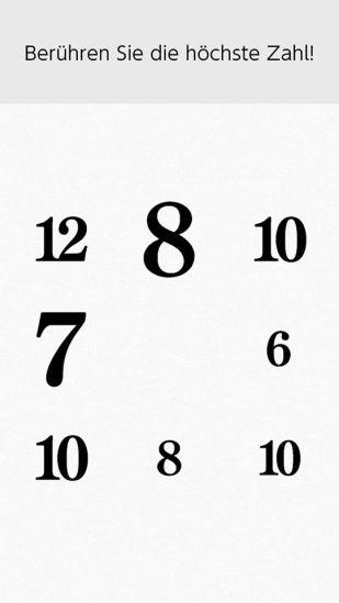 Das Bild zeigt die Aufgabe Zahlenfinder.