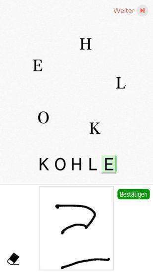Das Bild zeigt die Schnellschreibweise des E.
