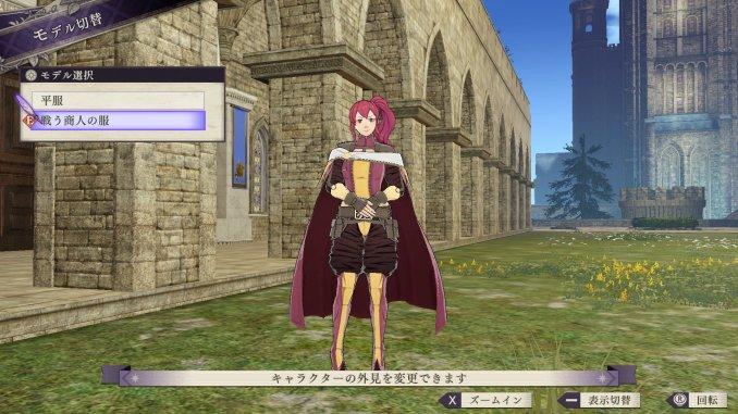 Das Bild zeigt die Kampf-Kaufmannskleidung von Anna in Fire Emblem: Three Houses.