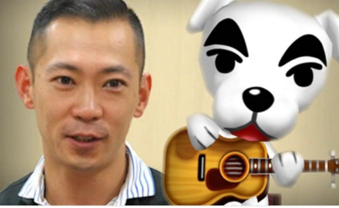 Das Bild zeigt K. K. Slider im Vergleich mit dem Komponisten Kazumi Totoka. Das Design des hündischen Musikers basiert auf dem Aussehen des Musikers. Das ist wissenswert.