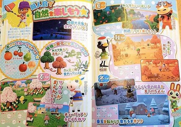 Das Bild zeigt eine Seite aus dem Animal Crossing: New Horizons Lösungsbuch. In diesem sind alle wichtigen Informationen über das Spiel enthalten.