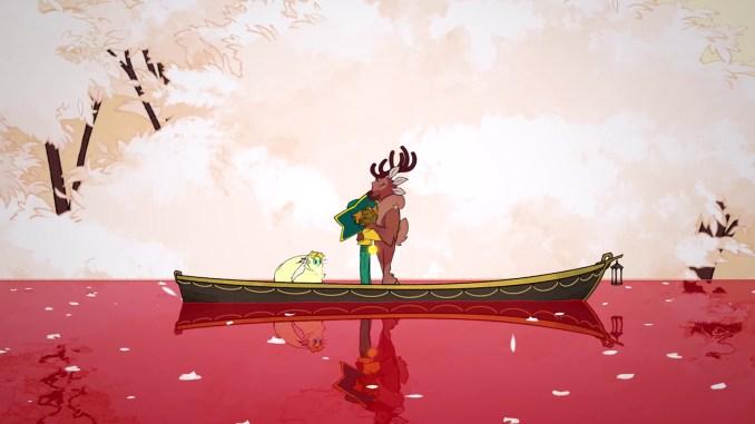 Das Bild zeigt eine Szene aus Spiritfarer