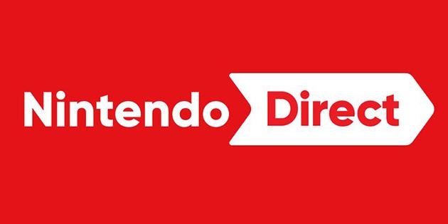 Das Bild zeigt den Schriftzug, der für die Nintendo Präsentationen genutzt wird.