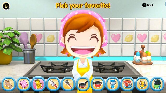 Das Bild zeigt eine Kochanleitung in Cooking Mama: Cookstar. Alle Schritte des Rezeptes sind ersichtlich.