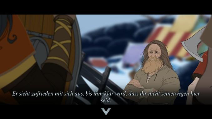 Auf dem Bild ist ein Dialogbildschirm innerhalb des Spiels zu sehen.