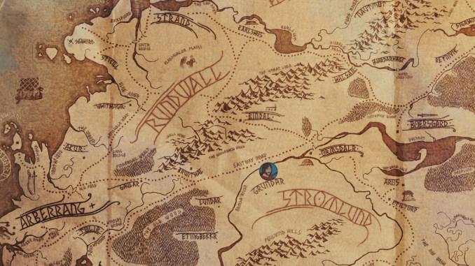 """Auf dem Bild ist die Weltkarte von """"The Banner Saga"""" zu sehen."""