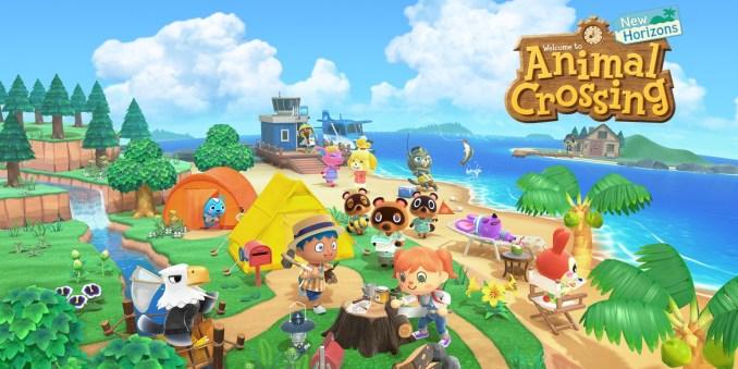 Auf dem Bild ist ein offizielles Animal Crossing: New Horizons Werbebild zu sehen