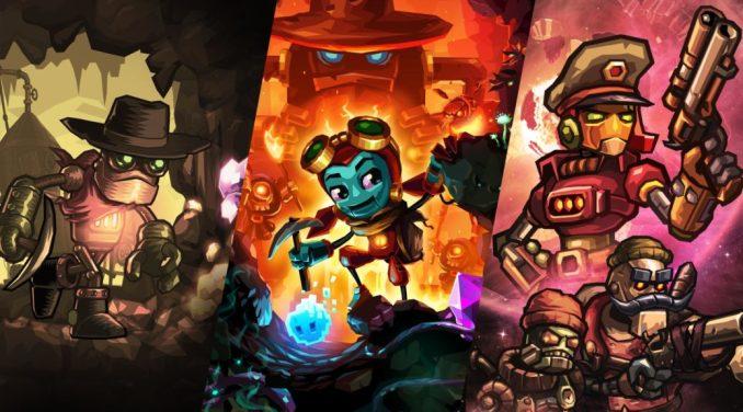 """Das Bild zeigt Artwork zu den diversen """"SteamWorld""""-Titeln."""