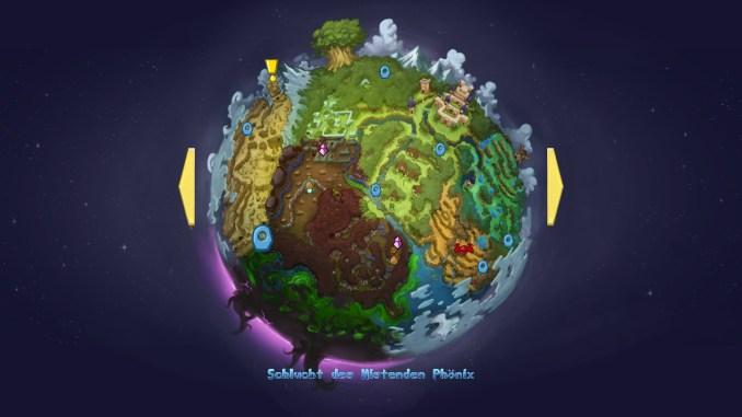 Auf dem Bild ist die Weltkarte von Gaia zu sehen.