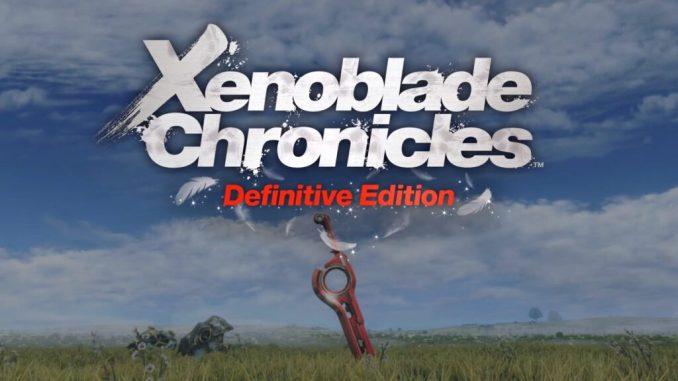 Das Bild zeigt das Logo von The Xenoblade Chronicles: Definitive Edition. Es ist ein Game des Entwicklerstudios Monolith Soft.