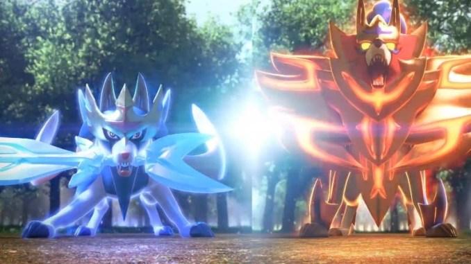 Das Bild zeigt die beiden legendären Pokémon aus Schwert und Schild.