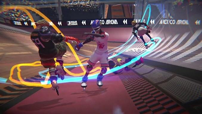 Das Bild zeigt die Skate-Action in Roller Champions.