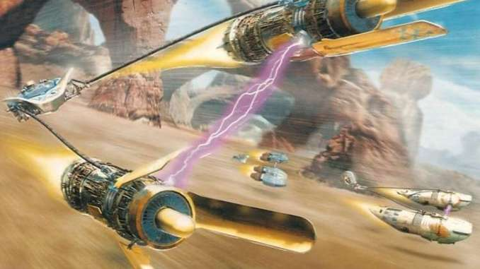 Das Bild zeigt den Podracer von Anakin Skywalker in Star Wars Episode I Racer.