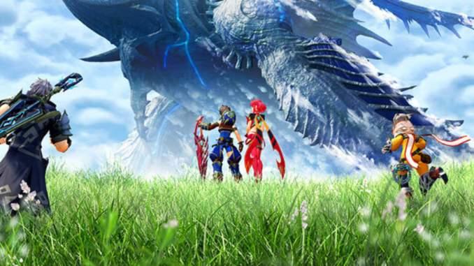 Das Bild zeigt einen Titelscreen von Xenoblade Chronicles 2 für Nintendo Switch.