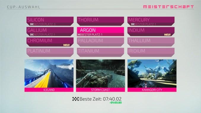 """Das Bild zeigt die zwölf Cups aus dem Racer """"Fast RMX""""."""