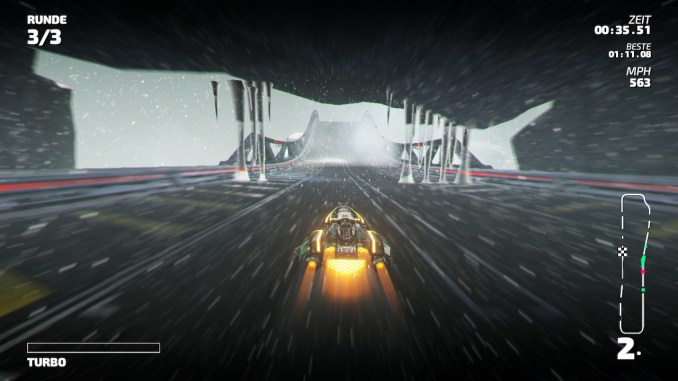 """Das Bild zeigt Hindernisse aus Eis aus dem Racer """"Fast RMX""""."""