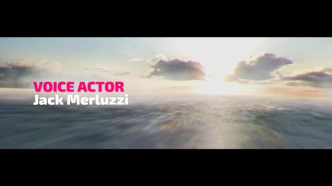 """Das Bild zeigt einen Ausschnitt aus den Credits mit dem Namen """"Jack Merluzzi"""" des Voice Actors aus dem Racer """"Fast RMX""""."""