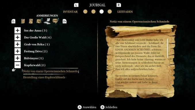 """Das Bild zeigt das Journal und einen Rechtschreibfehler unter dem Punkt """"Kupferwald""""."""