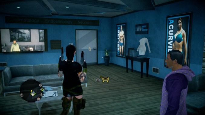 Das Bild zeigt den Spieler in einer Beauty-Klinik.