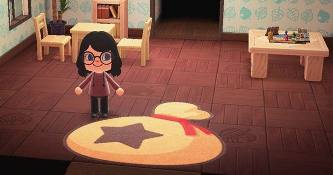 """Dieses Bild zeigt den Sterni-Sack-Teppich in """"Animal Crossing: New Horizons""""."""