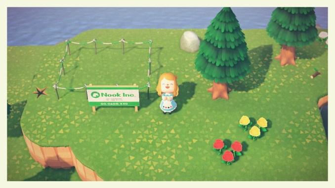 Das Bild zeigt ein leeres Grundstück in Animal Crossing: New Horizons.