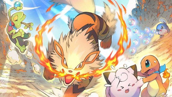Das Bild zeigt das Artwork zur neuen Mission von Pokèmon Mystery Dungeon: Retterteam DX.