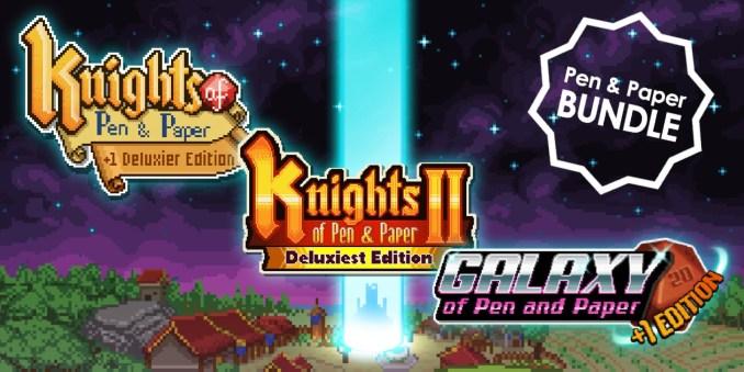 """Auf dem Bild ist das offizielle eShop Banner des """"Pen and Paper Games Bundle"""" zu sehen. Thema Neuerscheinungen 15. KW"""