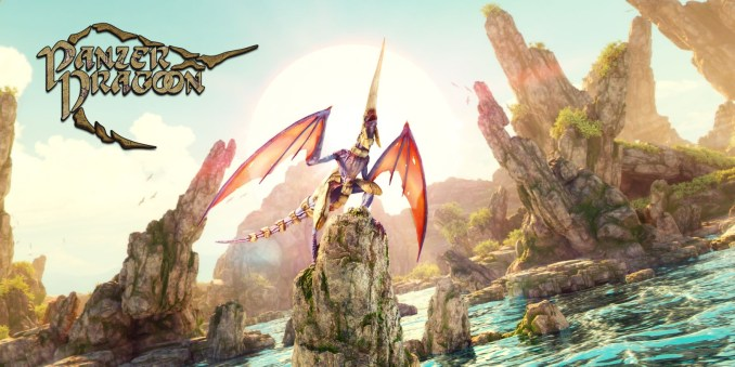 """Das Bild zeigt die Keyart des von Forever Entertainment veröffentlichten """"Panzer Dragoon Remake""""."""