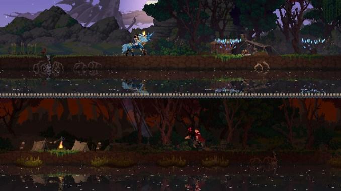 Das Bild zeigt den Ko-Op-Modus von Kingdom Two Crowns: Dead Lands